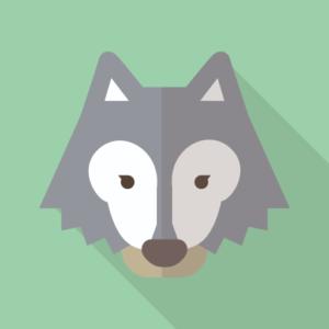 オオカミアイコン